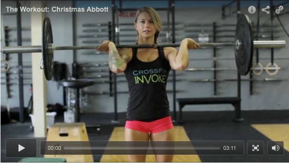 Christmas Abbott at the gym