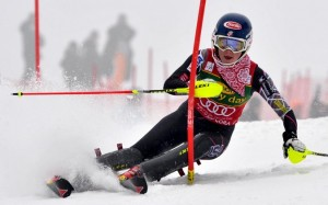 Shiffrin skiing